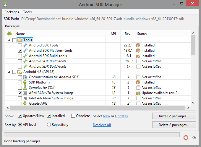 Android SDK Tools Installer