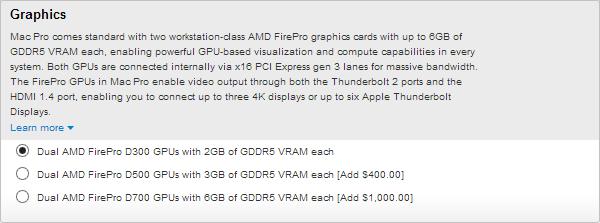 Apple Mac Pro 2013 AMD FirePro D700