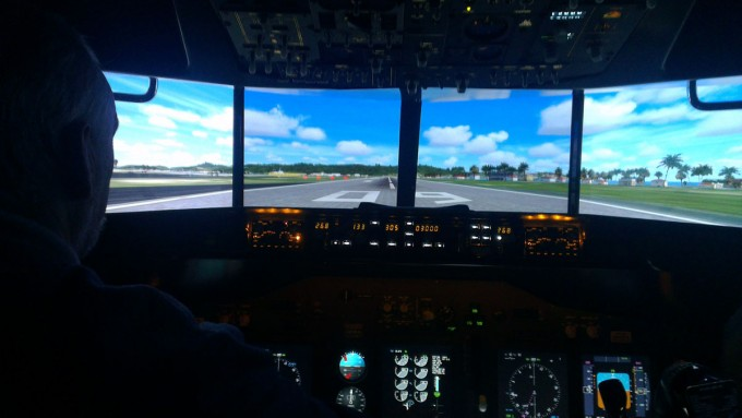 Garage Flight Sim Cockpit