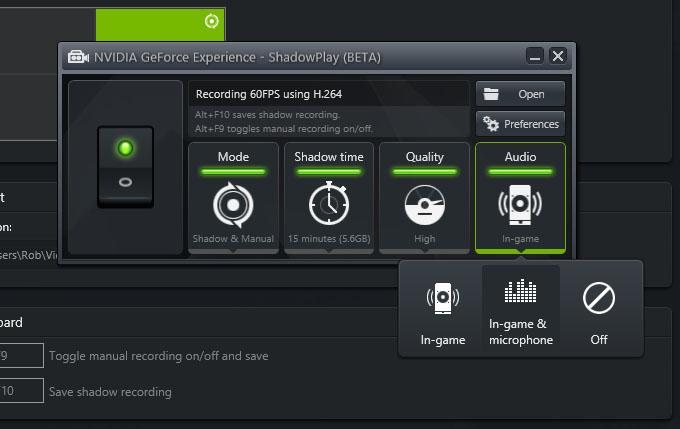 nvidia geforce experience shadowplay beta
