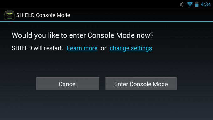 NVIDIA SHIELD - Console Mode