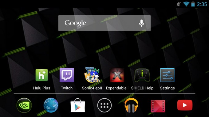 NVIDIA SHIELD Default Android Desktop