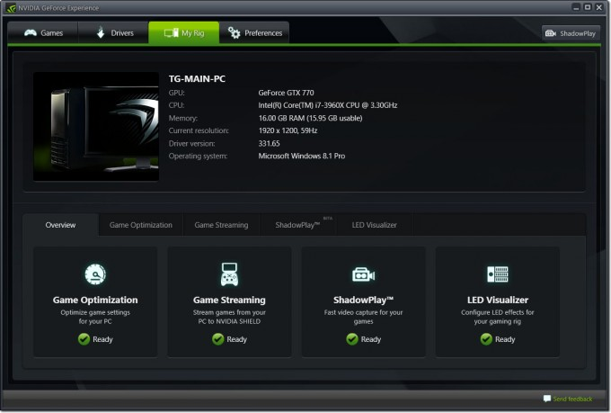 NVIDIA SHIELD - GeForce Experience GameStream