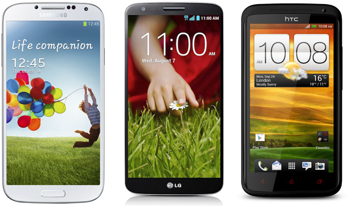Samsung Galaxy S4 - LG G2 - HTC One X+