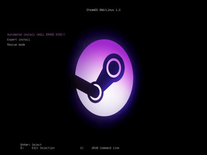 SteamOS EFI GRUB Boot Loader