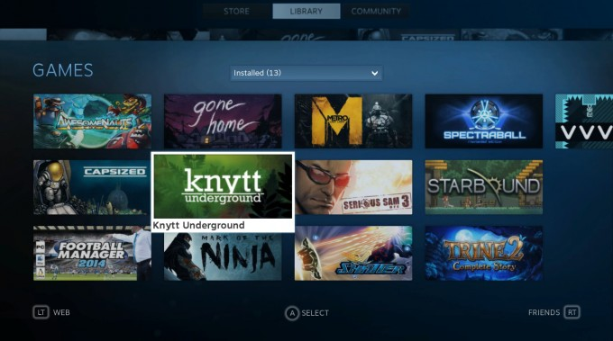 SteamOS - Library