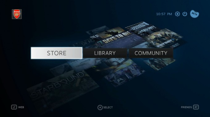 SteamOS - Main Screen