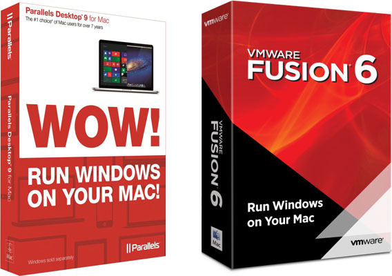 VMware Fusion 6 and Parallels Desktop 9