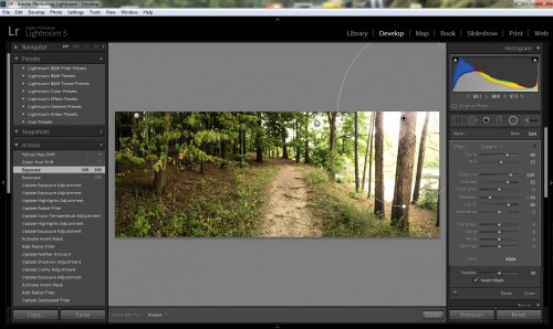 Lightroom 5 finally allows radial selections, which dramatically change its editing ability.