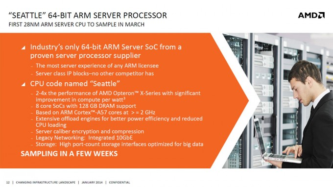 AMD Seattle ARMv8 Opteron A1100 Slide