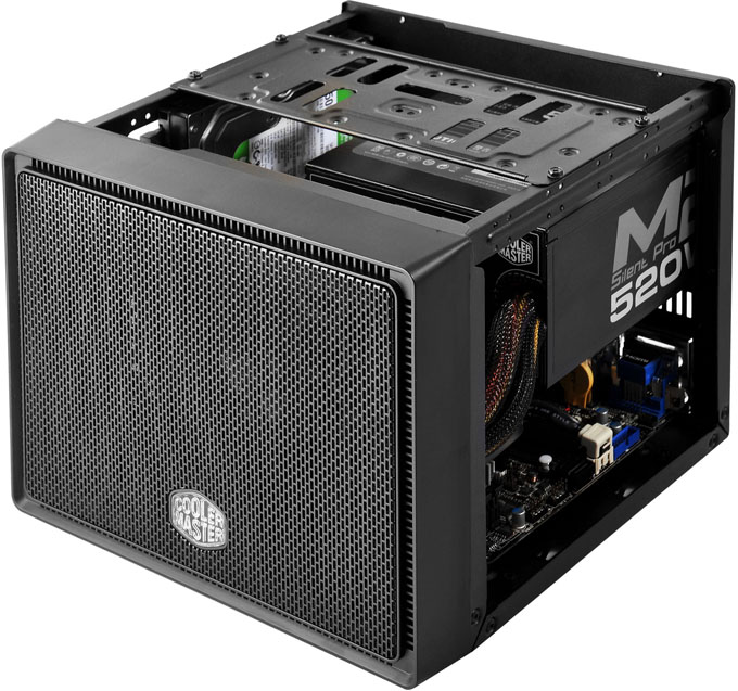 Cooler Master Elite 110 Chassis - Inside (Hardware Installed)