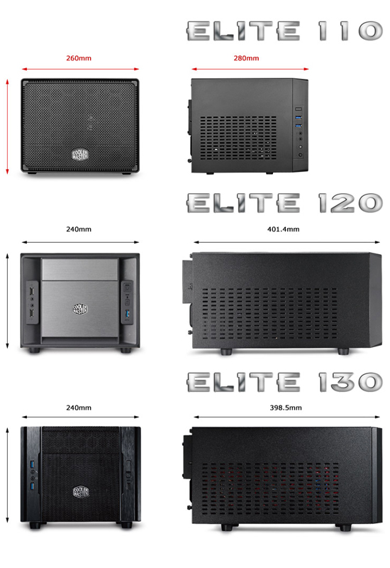 Cooler Master Elite Chassis Comparison