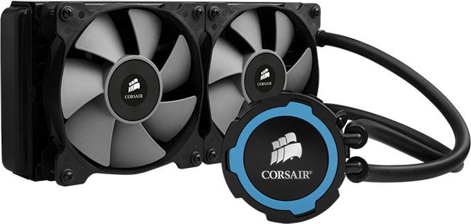 Corsair's Hydro H105 CPU Cooler Has Thick Radiator, PWM Fans & Color Accent Rings