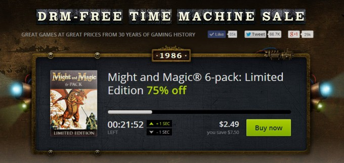 GOGcom DRM-Free Time Machine Sale