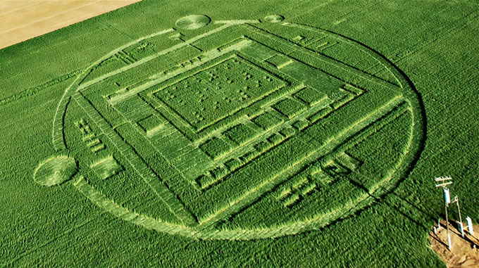 NVIDIA's Marketing Team Responsible for Crop Circle in Salinas, California