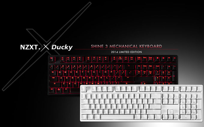 NZXT Shine Ducky Mechanical Keyboard