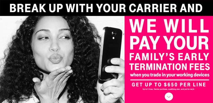 T-Mobile Continues to Annoy its Competitors, Offers You $650 Credit to Switch