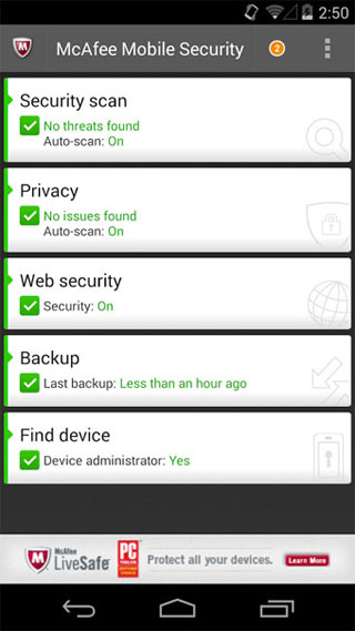 McAfee Antivirus and Security - Android