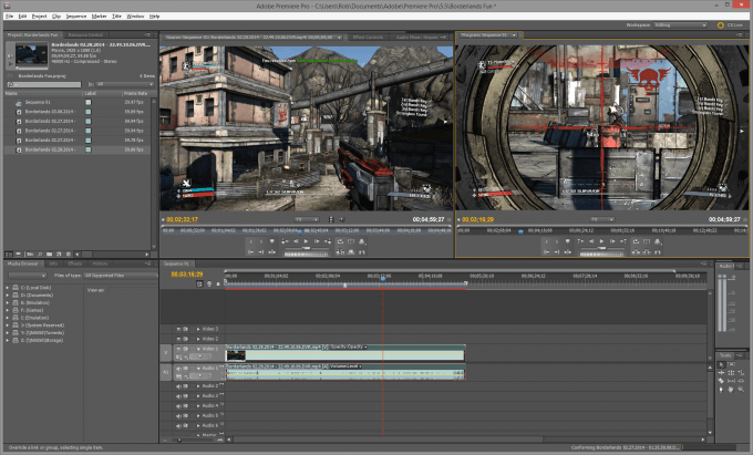 Adobe Premiere Pro - Export Video from NVIDIA's ShadowPlay