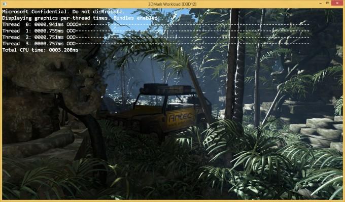 Futuremark 3DMark 11 running with DirectX 12