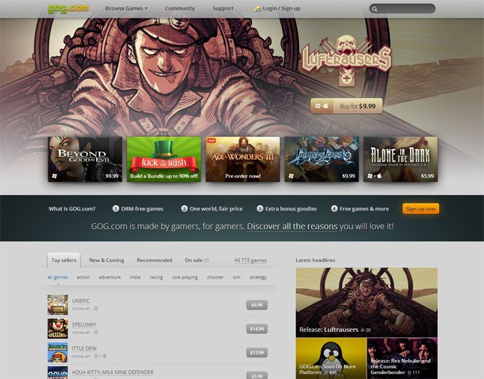 GOG Website - March 2014