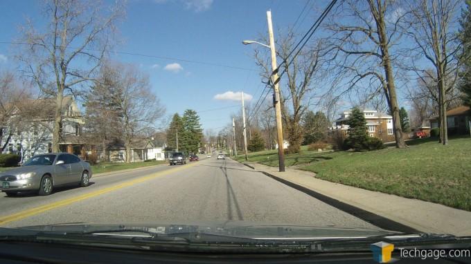 PAPAGO! P2 Pro Dashcam - Day Driving, Main Street
