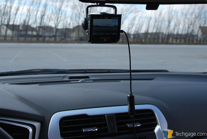 PAPAGO! P2 Pro Dashcam - Installed Dash