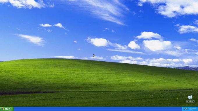 Microsoft Windows XP - Home Screen