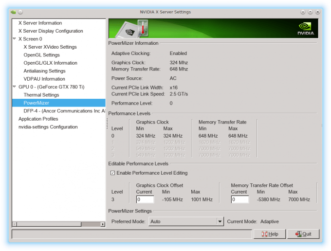 NVIDIA GeForce R337 Linux Driver - Overclocking