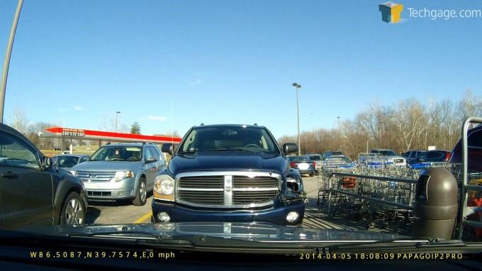 PAPAGO! P2 Pro Dashcam - Parking Lot