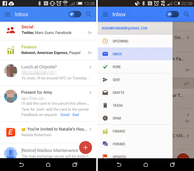 Rumored Gmail Mobile App Update