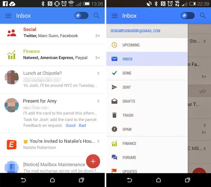Rumored Gmail Mobile App Update