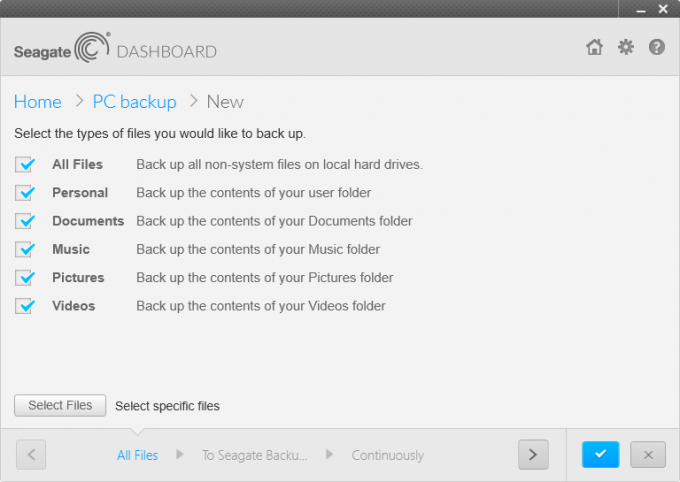Seagate Backup Mobile App - PC Backup