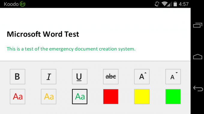Microsoft Word on Android