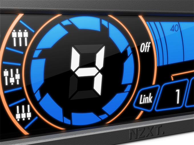 NZXT Sentry 3 Fan Controller - Screen Close-up