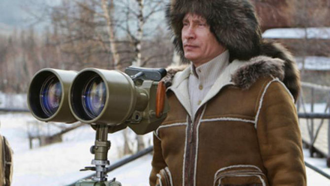 Vladimir Putin Keeping an Eye Out