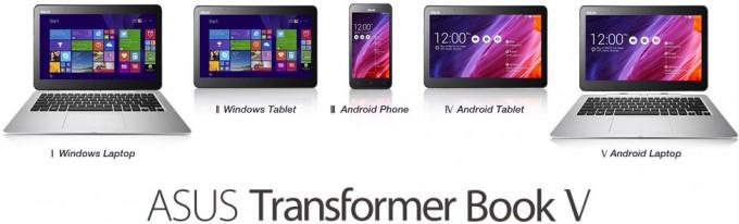 ASUS Transformer Book V - Modes