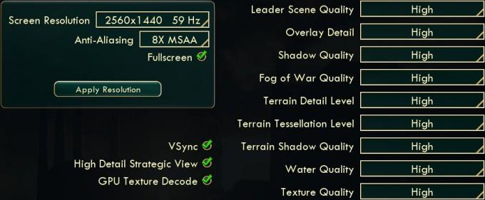 Civilization V for Windows - Graphics-Options