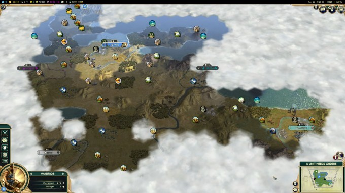 Civilization V for Windows - Zoomed-out