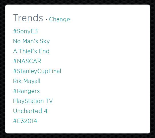 E3 2014 Hashtag