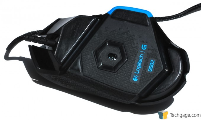 Logitech G502 Proteus Core Mouse Belly