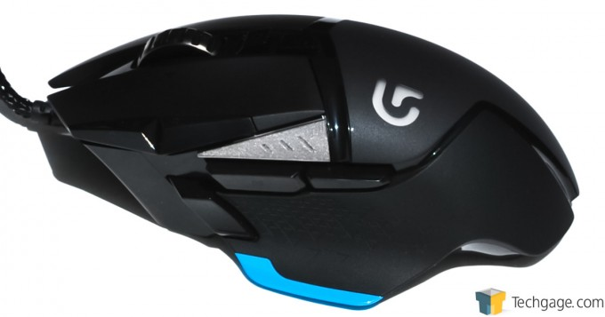 Logitech G502 Proteus Core Mouse Left Side