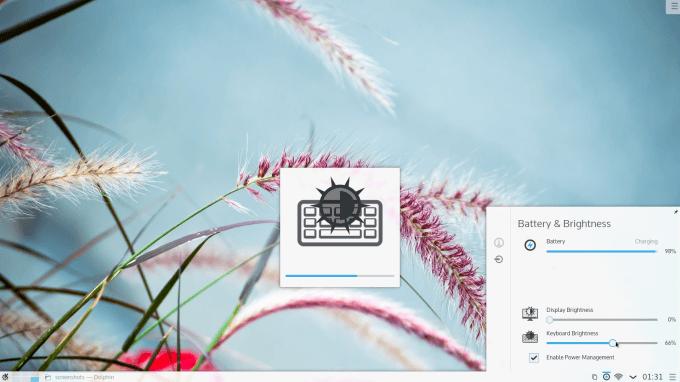 KDE Plasma 5 - Adjusting Brightness
