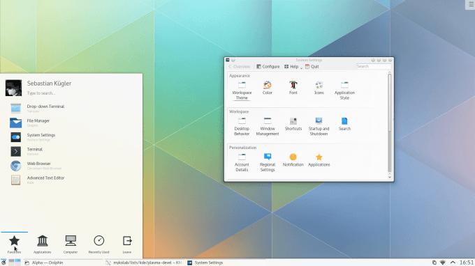 KDE Plasma 5 - Main Desktop