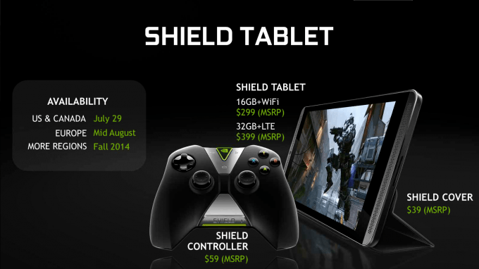 NVIDIA SHIELD Tablet and SHIELD Controller Price