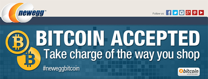 Newegg Accepts Bitcoin