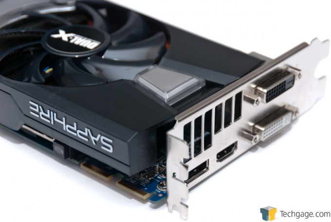 Sapphire Radeon R9 280 Dual-X - Video Connectors