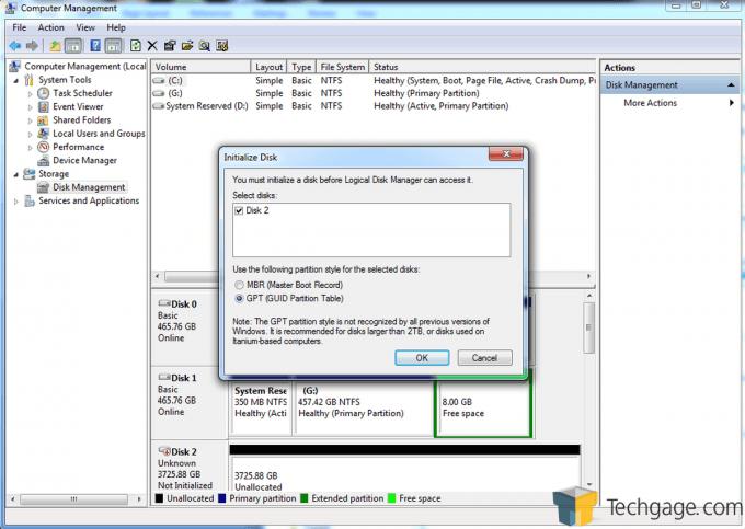 Teratrend TS432U Disk Initialization