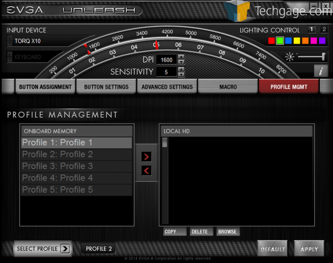 EVGA Torq Mouse Screen Capture Profile Management