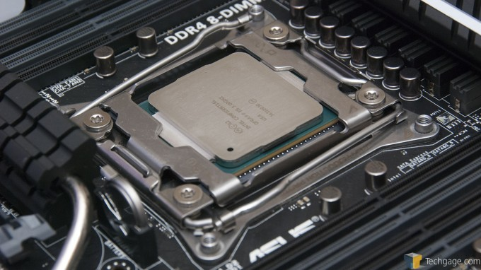 Intel Core i7-5960X Installed in an ASUS X99-DELUXE